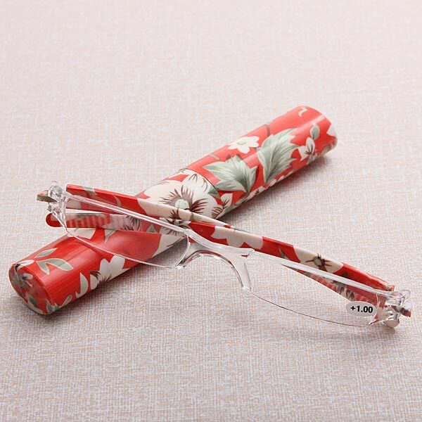 Lesebrille Orchid red mit Hartbox