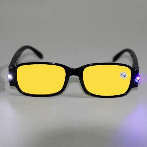 LED Lesebrille schwarz inkl. Batterien